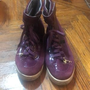 Women's purple high tops